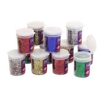 Multi-color .75-ounce Glitter Jars (Pack of 12)