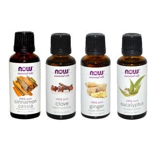 Now Foods Essential Oils Holiday Spirit Pack of 4 (Cinnamon Cassia, Clove, Ginger, Eucalyptus)|https://ak1.ostkcdn.com/images/products/10840229/P17881719.jpg?impolicy=medium