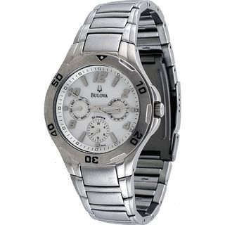 Bulova Men's 96C32 'Marine Star' Multi-Function Stainless Steel Watch