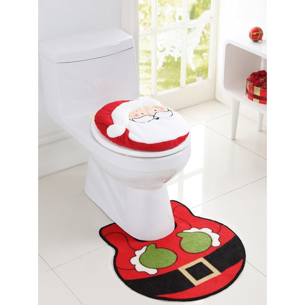 Vcny Holiday Themed Christmas Santa 2 Piece Bath Rug Set Free Shipping On Orders Over 45