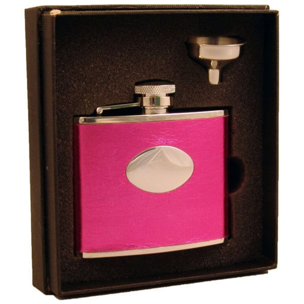 Visol Temptation Hot Pink Essential III Flask Gift Set - 4 ounces