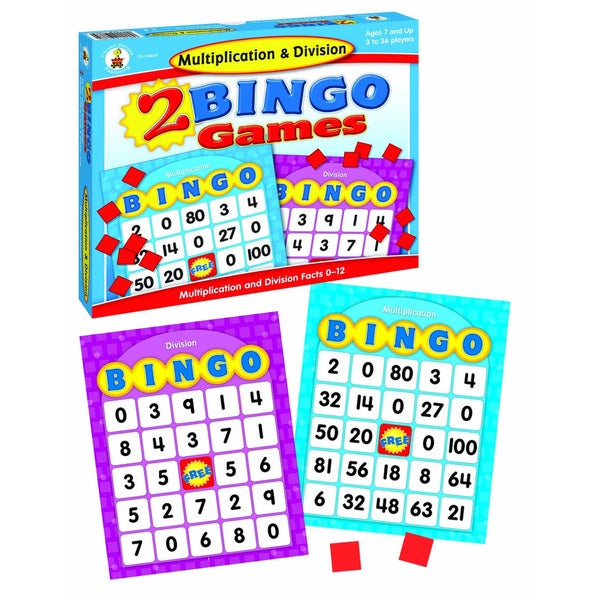 Carson-Dellosa Publishing Multiplication and Division Bingo