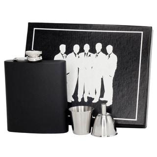 Visol Raven Black Matte Legion Flask Gift Set - 8 ounces