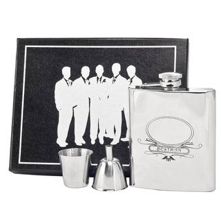 Visol Best Man Stainless Steel Legion Flask Gift Set - 8 ounces