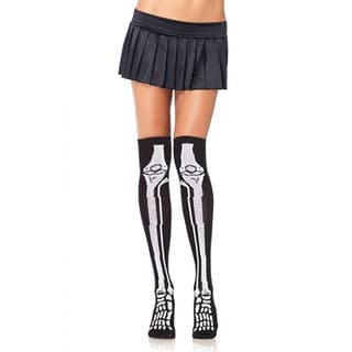 Unisex Skeleton Over The Knee Socks