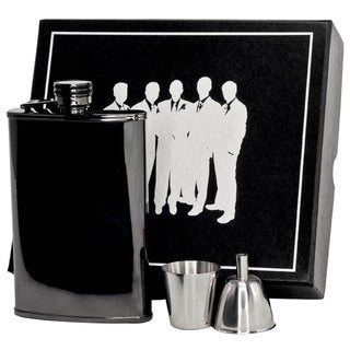Visol Outlaw III Gunmetal Legion II Flask Gift Set - 8 ounces