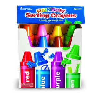 Learning Resources 56-piece Rainbow Sorting Crayons