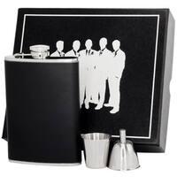Visol Ano Black Leather Legion II Flask Gift Set - 8 ounces