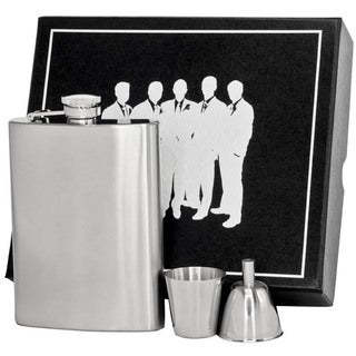 Visol Marcello Satin Finish Stainless Steel Legion II Flask Gift Set - 9 ounces