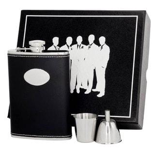 Visol Eclipse Z Black Leather Legion II Flask Gift Set - 8 ounces