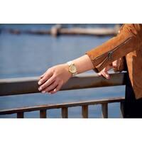 Burgi Women's Swarovski Crystals Quartz Quilted-Design Leather Strap Watch