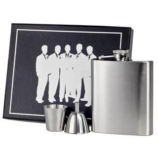Visol Derek Satin Finish Stainless Steel Legion Flask Gift Set - 8 ounces