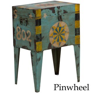 Handmade Wanderloot Hand-painted Vintage Indian Ballot Box Table (India)