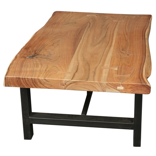30 Live Edge Coffee Tables That Transform The Living Room: Shop Handmade Wanderloot Gresham Live Edge Sustainable