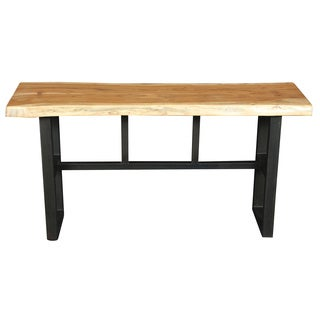 Wanderloot Gresham Live Edge Sustainable Acacia Wood Console Table with Decorative Joinery
