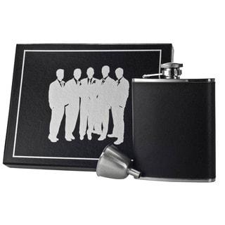 Visol Ano Black Leather Century Flask Gift Set - 6 ounces