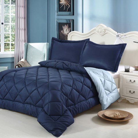 Swiss Comforts Luxurious Hand-crafted Brushed Velvet Down Alternative Reversible Comforter Set