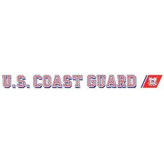 U.S. Coast Guard Car Decal featuring USCG emblem