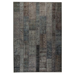 M.A.Trading Hand Printed Adana Blue Vintage Print Rug (India)