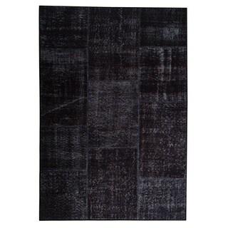 M.A.Trading Hand Printed Konya Charcoal Print Rug (India)