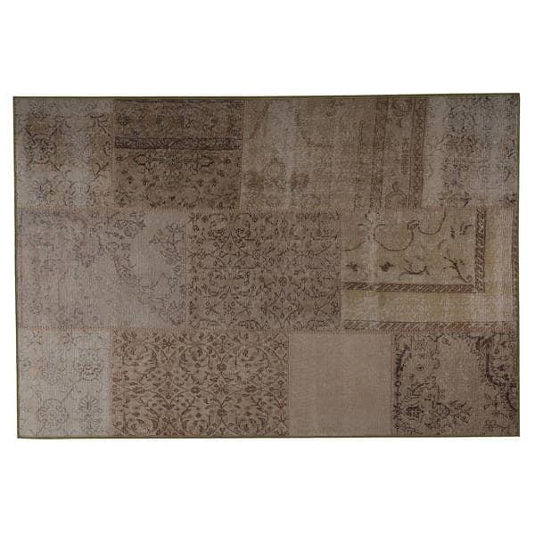 Handmade Printed Konya Sand Vintage Print Rug (India) - 4' x 6'. Opens flyout.