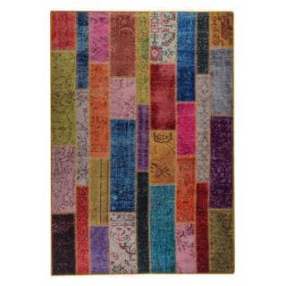 Link to Handmade Printed Adana Multi Vintage Print Rug (India) - 5' x 8' Similar Items in Transitional Rugs