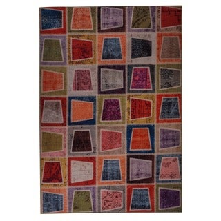 M.A.Trading Hand Printed Bursa Multi Vintage Print Rug (India)