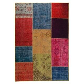 M.A.Trading Hand Printed Konya Multi Vintage Print Rug (India)