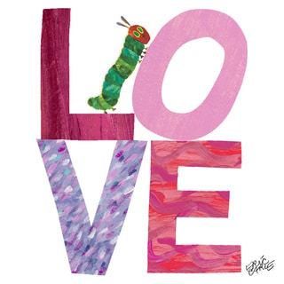 Marmont Hill - Caterpillar Love by Eric Carle Painting Print on Canvas