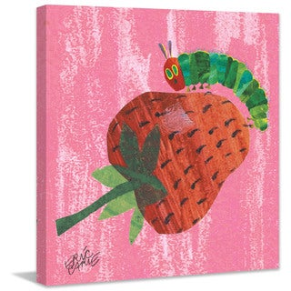 Marmont Hill - Caterpillar And Strawberry by Eric Carle Painting Print on Canvas