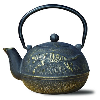 "Matte Black Cast Iron ""Tora"" 22 Ounce Teapot"