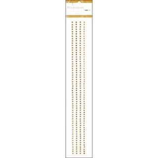 "Self-Adhesive 3mm Rhinestone Strips 12"" 4/Pkg-Antique Gold"