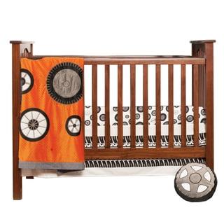 One Grace Place Teyo's Tires 3-piece Crib Bedding Set
