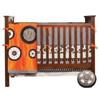 One Grace Place Teyo's Tires 4-piece Crib Bedding Set