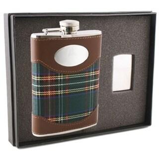 "Visol ""Edinburgh"" 8oz Flask and Zippo Lighter Gift Set"