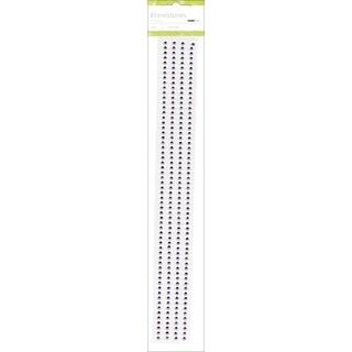 """Self-Adhesive 3mm Rhinestone Strips 12"""" 4/Pkg-Lilac"""