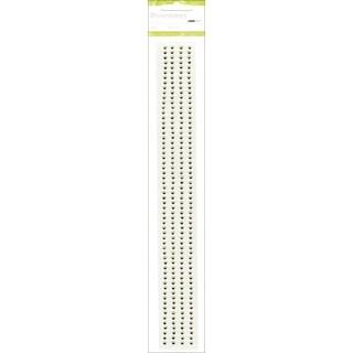 "Self-Adhesive 3mm Rhinestone Strips 12"" 4/Pkg-Lime"