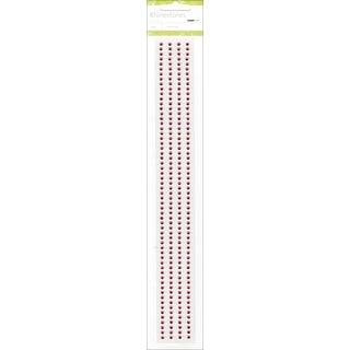 "Self-Adhesive 3mm Rhinestone Strips 12"" 4/Pkg-Hot Pink"