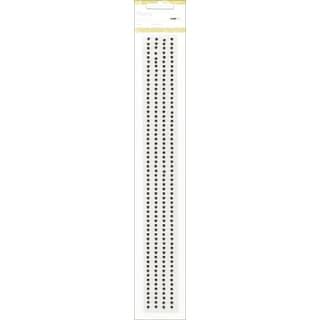 "Self-Adhesive 3mm Pearl Strips 12"" 4/Pkg-Chocolate"
