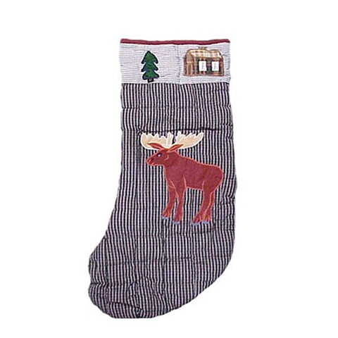 Patch Magic Country Style Stocking with Moose Motif