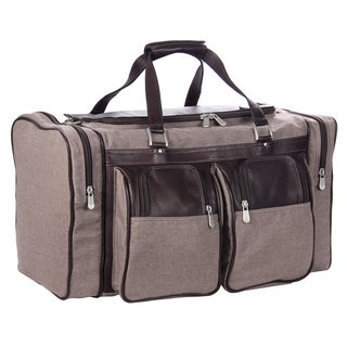 Piel Leather 20-inch Carry On Duffel Bag with Pockets