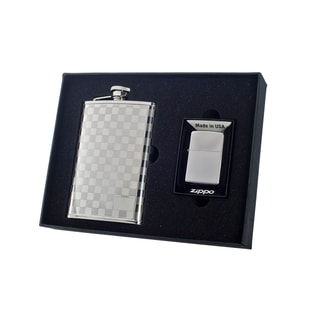 "Visol ""Mate"" Flask and Zippo Lighter Gift Set, 8-Ounce"