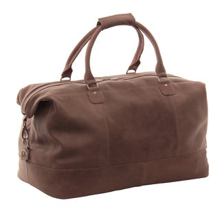 Piel Leather 19-inch Large Classic Satchel Carry-On Duffel Bag