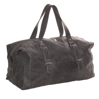 Piel Leather 19-inch Satchel Duffel With Buckles