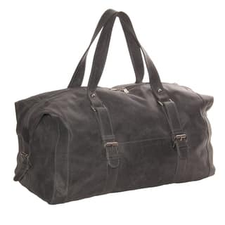 Piel Leather 19-inch Satchel Duffel With Buckles|https://ak1.ostkcdn.com/images/products/10840651/P17882261.jpg?impolicy=medium