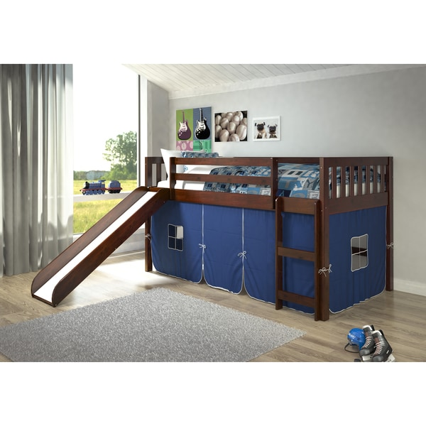 Shop Donco Kids Mission Tent Loft Dark Cappuccino Twin Bed