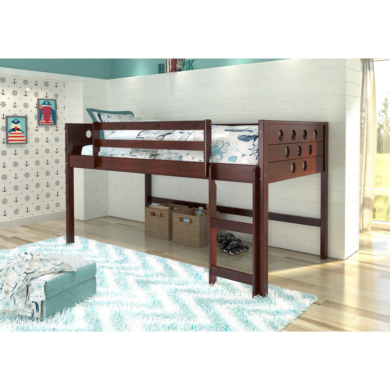 Donco Kids Circles Low Loft Twin Bed (Cappuccino - Cappuc...