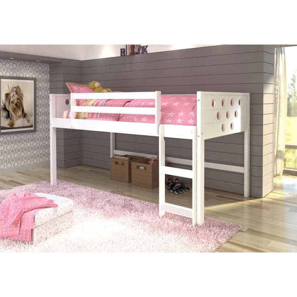 buy online 42f05 1cb0f Donco Kids Circles Low Loft Twin Bed