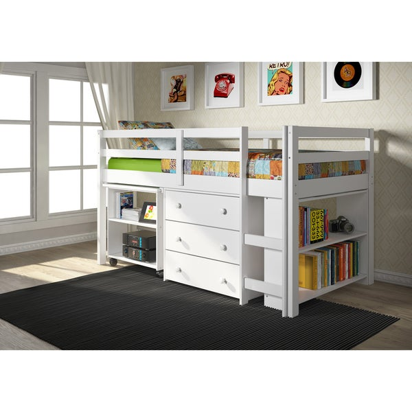 Donco Kids Twin Bookcase Bed