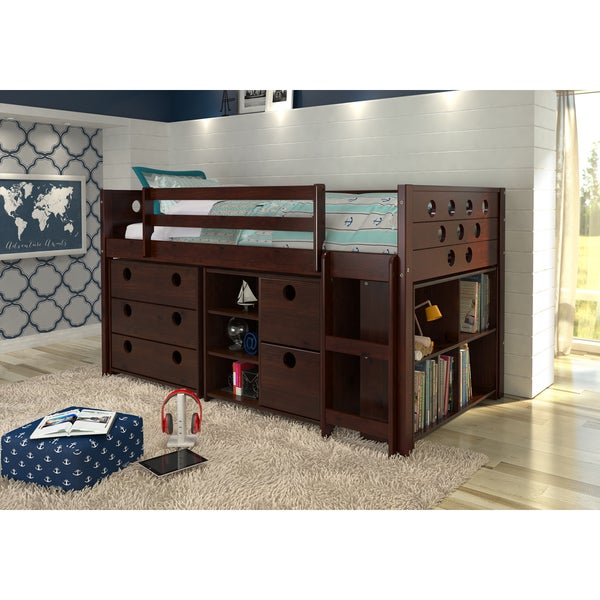 Donco Kids Circles Modular Low Loft Twin Bed. Opens flyout.